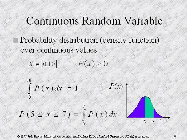 continuous random variable