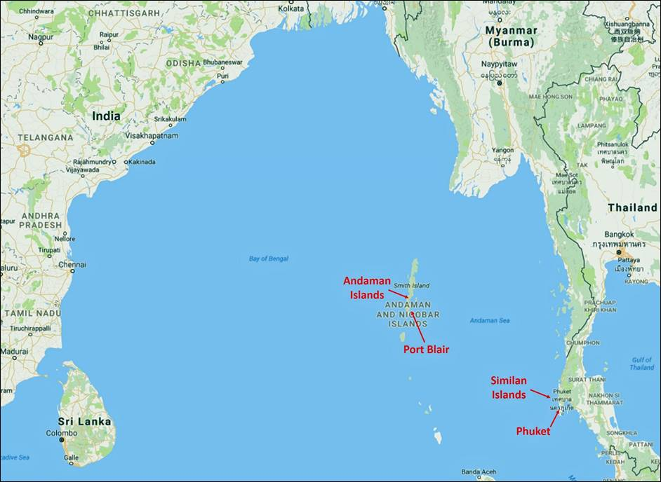 Andaman Islands on