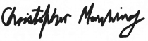 Christopher Manning Signature